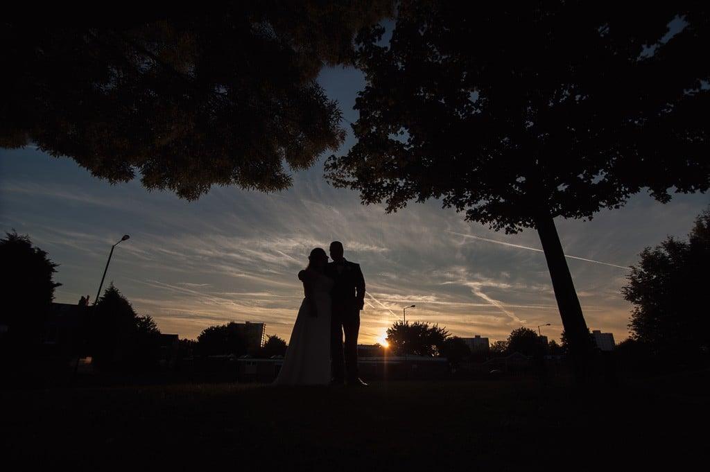 Fotografia ślubna zachód słońca