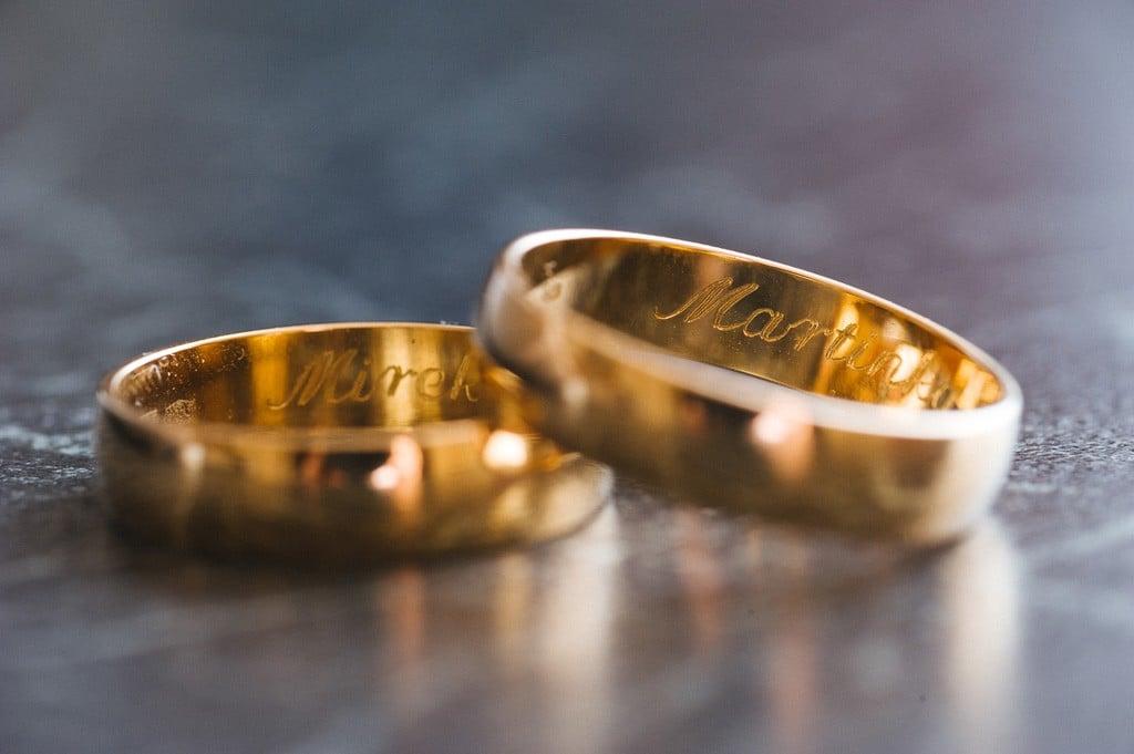 Fotograf ślubny Anglia obrączki