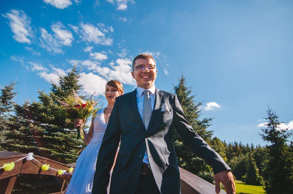 Ślub w plenerze w hotelu Diadem koło Chojnic