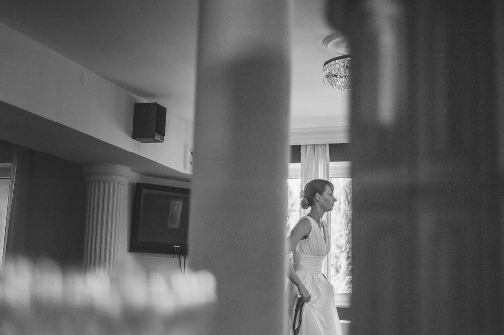 Panna Młoda przed śłubem w hotelu Diadem koło Chojnic