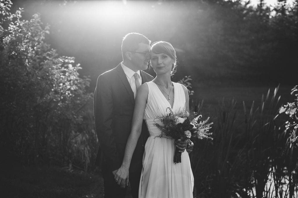 Plener ślubny nad stawem koło Chojnic