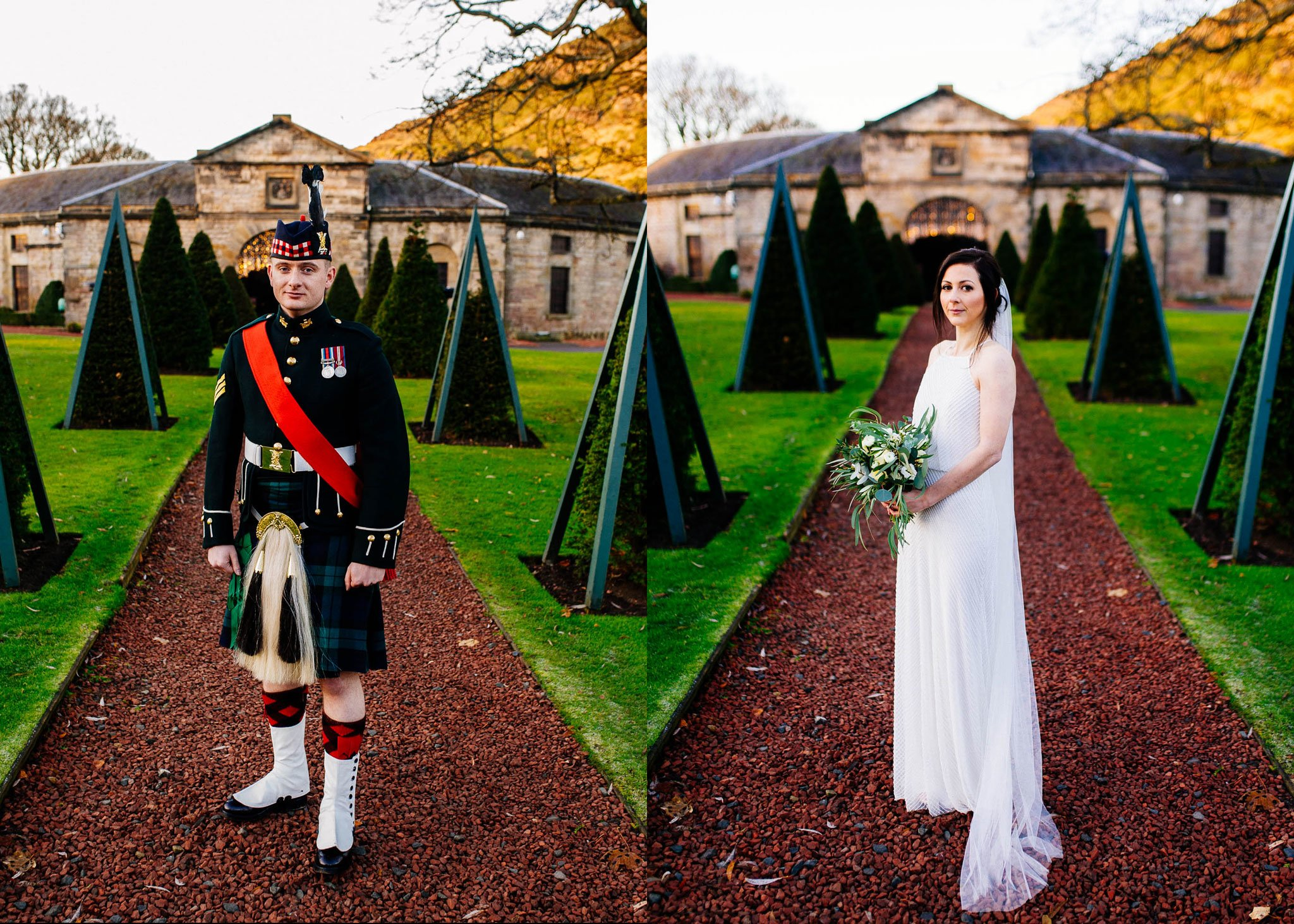 Pan i Pani Młoda w dniu ślubu