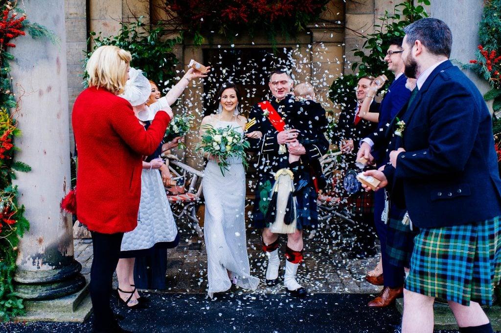 Szkocki ślub - tunel konfetti