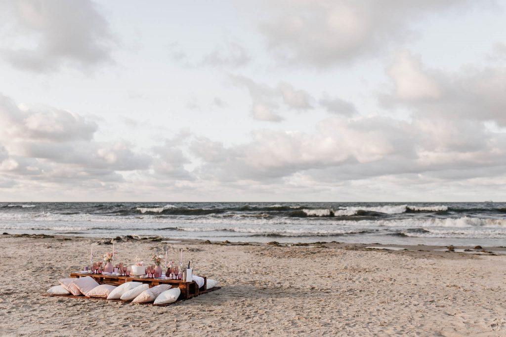 Przyjęcie weselne nad morzem