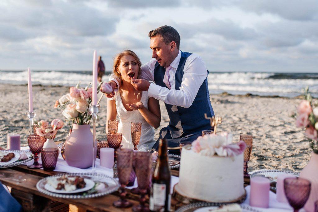 Brytyjskie wesele nad polskim morzem