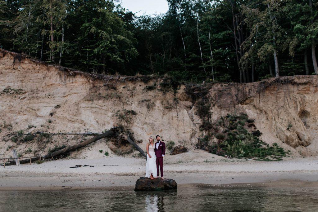 Ślubna sesja plenerowa Klif Orłowski