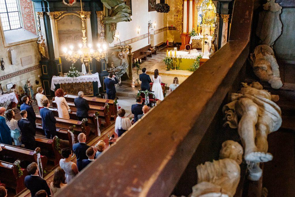 Ceremonia ślubna w Sanktuarium w Lubiszewie Tczewskim